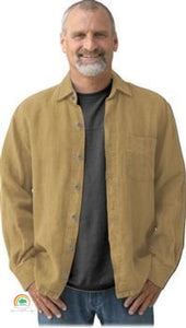 Mens Hemp Clothing | Sashmill Hemp Linen Shirt | Jacket - Wheat / Small - Mens Hemp Clothing