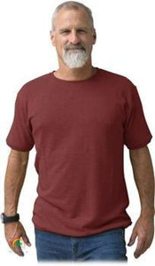 Mens Hemp Clothing | Hemp Shirt | Ultimate in Comfort - Viscose Free! - Crimson / Small - Mens Hemp Clothing