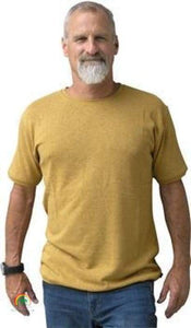 Mens Hemp Clothing | Hemp Shirt | Ultimate in Comfort - Viscose Free! - Curry / Small - Mens Hemp Clothing