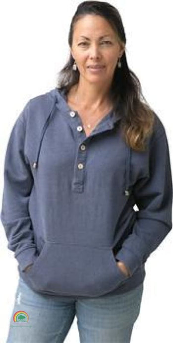 Womens Hemp Clothing | Cabo Hemp Hoodie - X-Small / Slate Blue - Womens Hemp Clothing