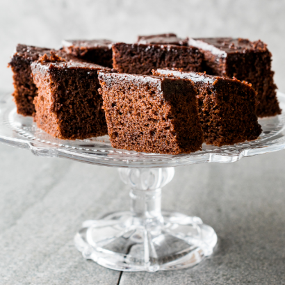chocolate brownies made with Guinness beer