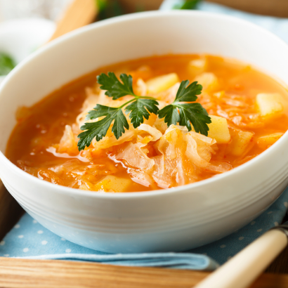 Irish cabbage soup made in the InstaPot