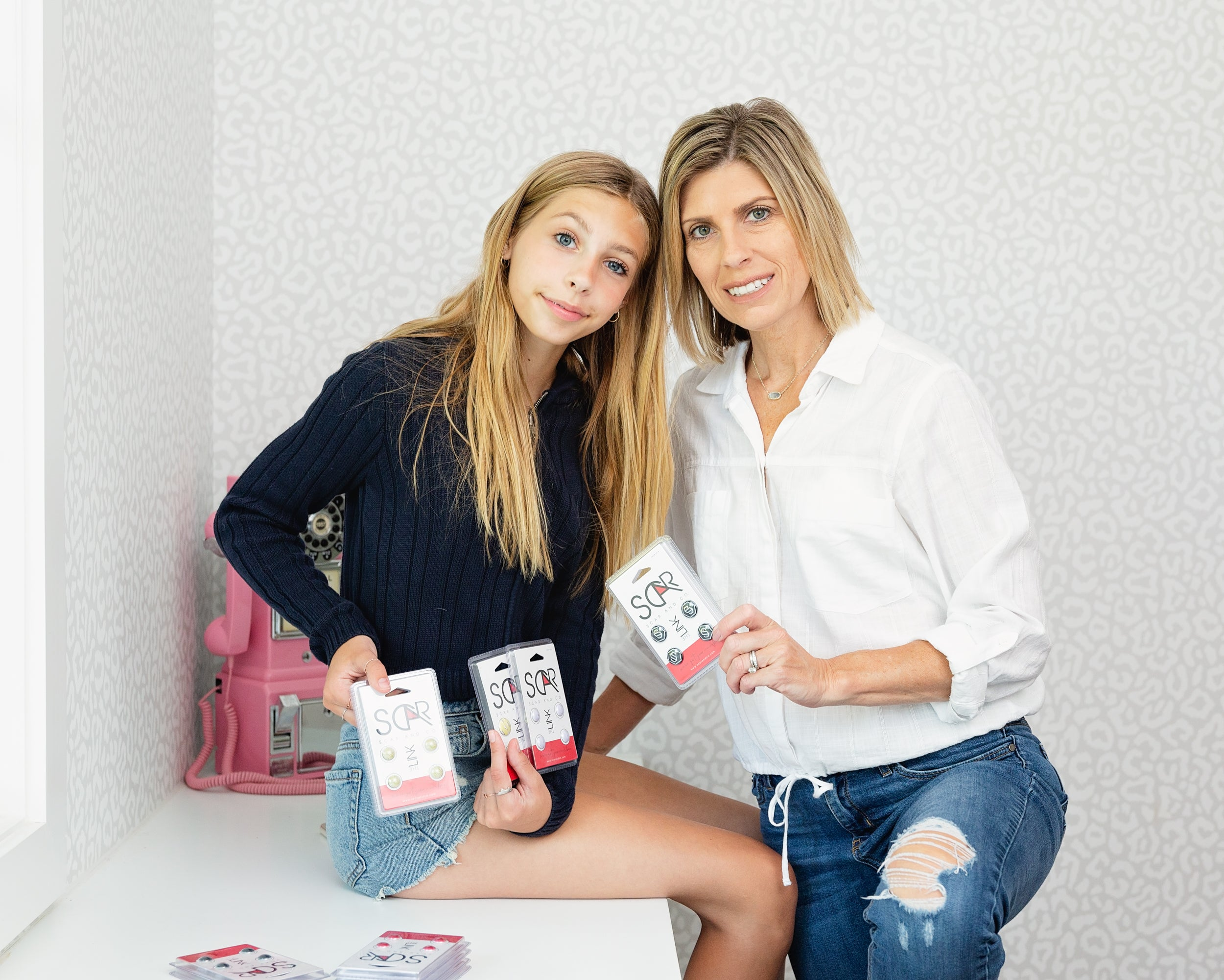 Stephanie and Scarlet - co-founders of Scar and Co.