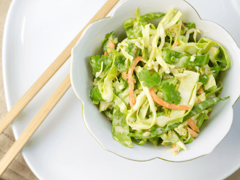 bowl of tangy summer asian slaw