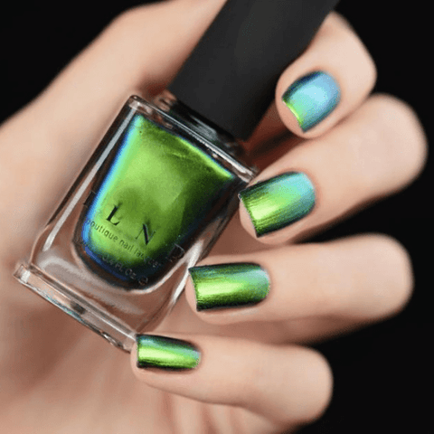reminisce pearly green color changing nail polish by ilnp