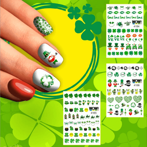 multi-pack of St. Patrick's day nail stickers