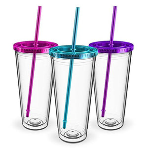 Maars Insulated Travel Tumblers 32 oz.Double Wall Acrylic3 Pack