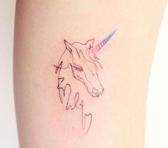 Tatouage licorne neutre