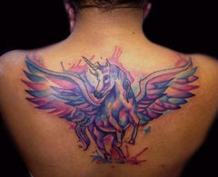 Tatouage licorne royale