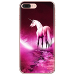 Coque iPhone SE Licorne Rose