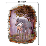 STICKERS LICORNE <br> FORÊT SAUVAGE