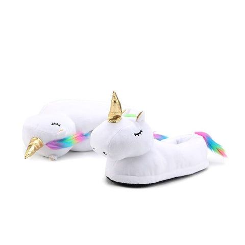 Chaussons Licorne Queue Multicolore