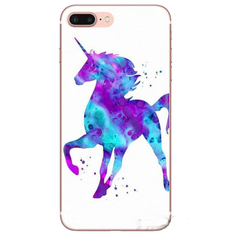 Coque iPhone Licorne Silhouette