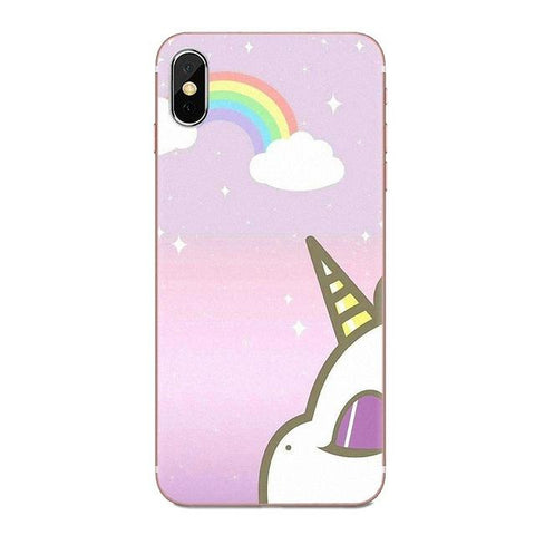 Coque Iphone Licorne Arc-en-Ciel