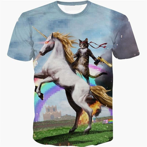 T-Shirt Chat Licorne