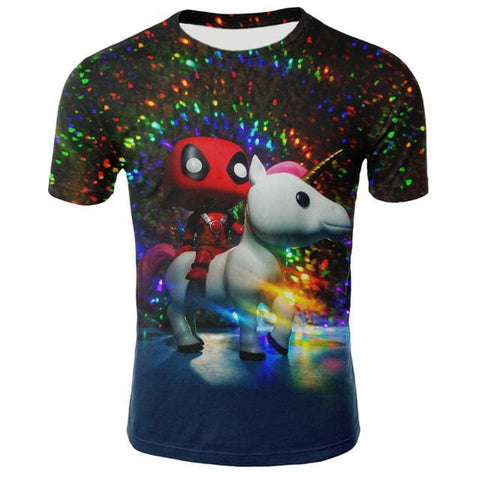 T-Shirt Licorne Deadpool 3D