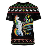 T-Shirt Licorne Christmas