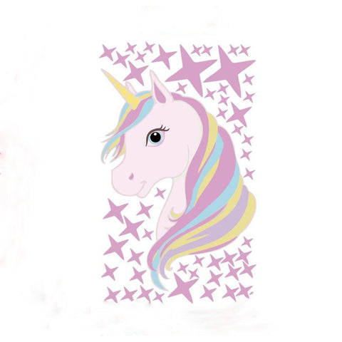 Stickers Tête Licorne