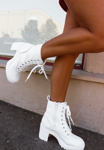 Kick A** Lace Up Platform Boots