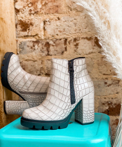 The Croc Off White Bootie