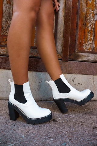 The Cool Girl White Bootie