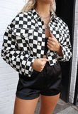 Start The Race Checkered Print Jacket