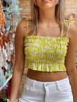 Trip To The Tropics Lime Crop Top