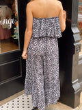 Run Away With Me Grey Leopard Jumpsuit