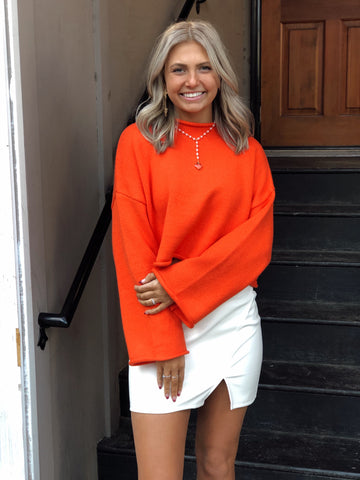 Stand Out Style Orange Sweater