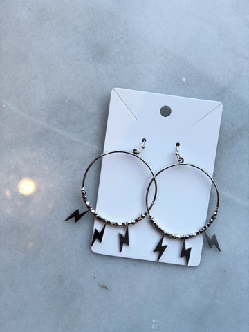 Silver Striking Earrings
