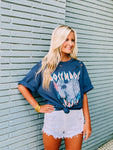 Rock N Roll Forever Indigo Blue Graphic Tee