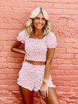 Floral Fun Ivory Two Piece Set