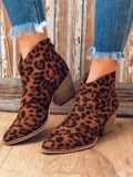 Well Played Leopard Ankle Booties
