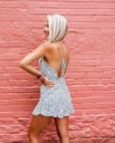 Seeing Double White Printed Romper
