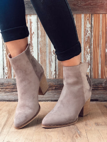 Taking These With Me Taupe Ankle Boots