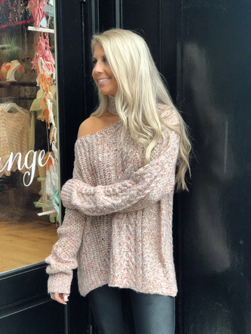 Center of Attention Blush Multi Sweater