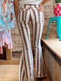 All About The Hype Mocha Striped Flares