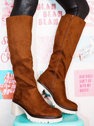 Brown Is The New Black Platform Boots