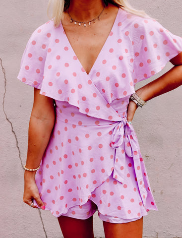 Sunday Brunch Lavender Romper