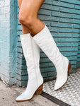 Wide Open Spaces White Booties