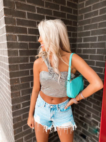 Shine Bright One Shoulder Top