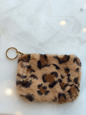 Furever Friend Brown Leopard Keychain Wallet