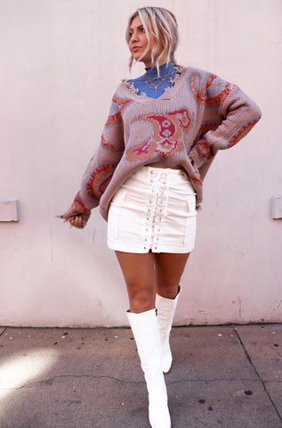 Perfect in Paisley Taupe Sweater