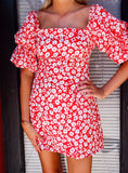 Lots of Love Red Floral Dress