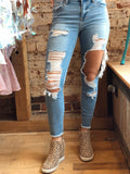 Belong To You Distressed Skinny Jeans
