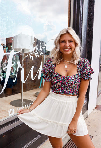 The Anna Top in Colorful Floral
