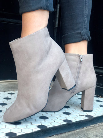 Take Them Anywhere Taupe Ankle Booties