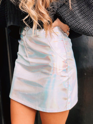 Future Me Holographic Skirt