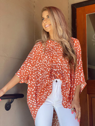 Business Babe Coral Top