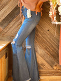 Blue Jean Baby Distressed Flares